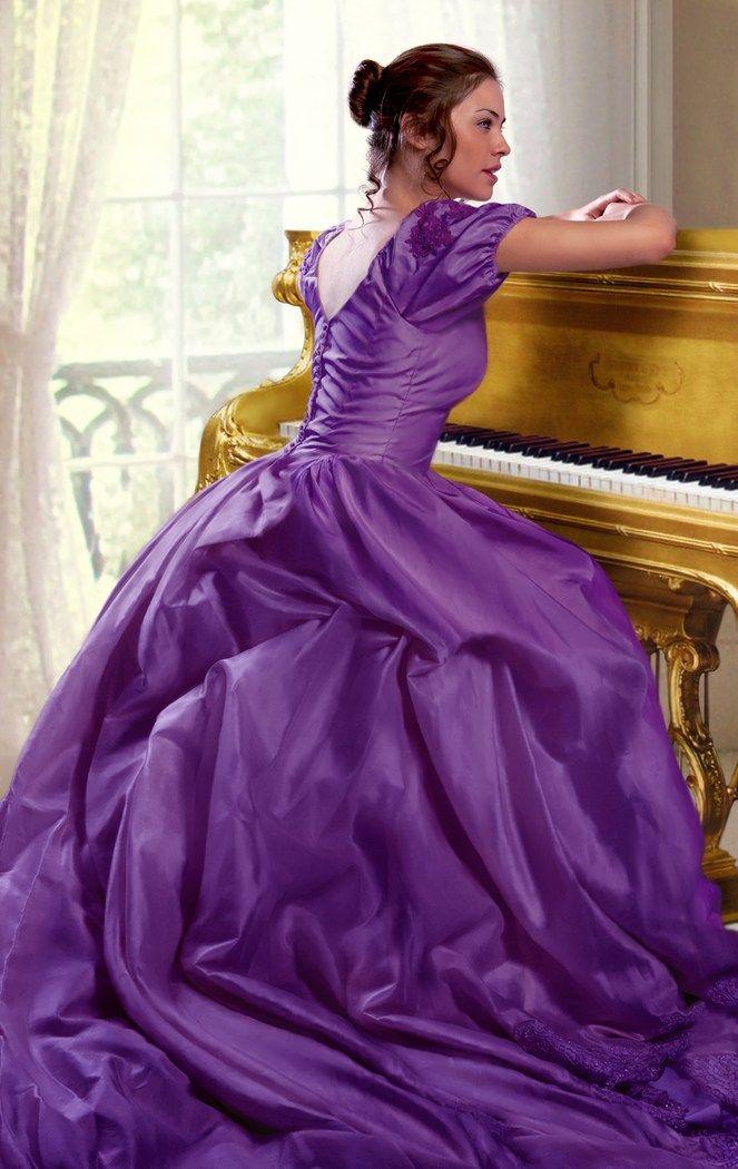 Hermosa Vestidos De Dama Romántica De época Ideas Ornamento ...