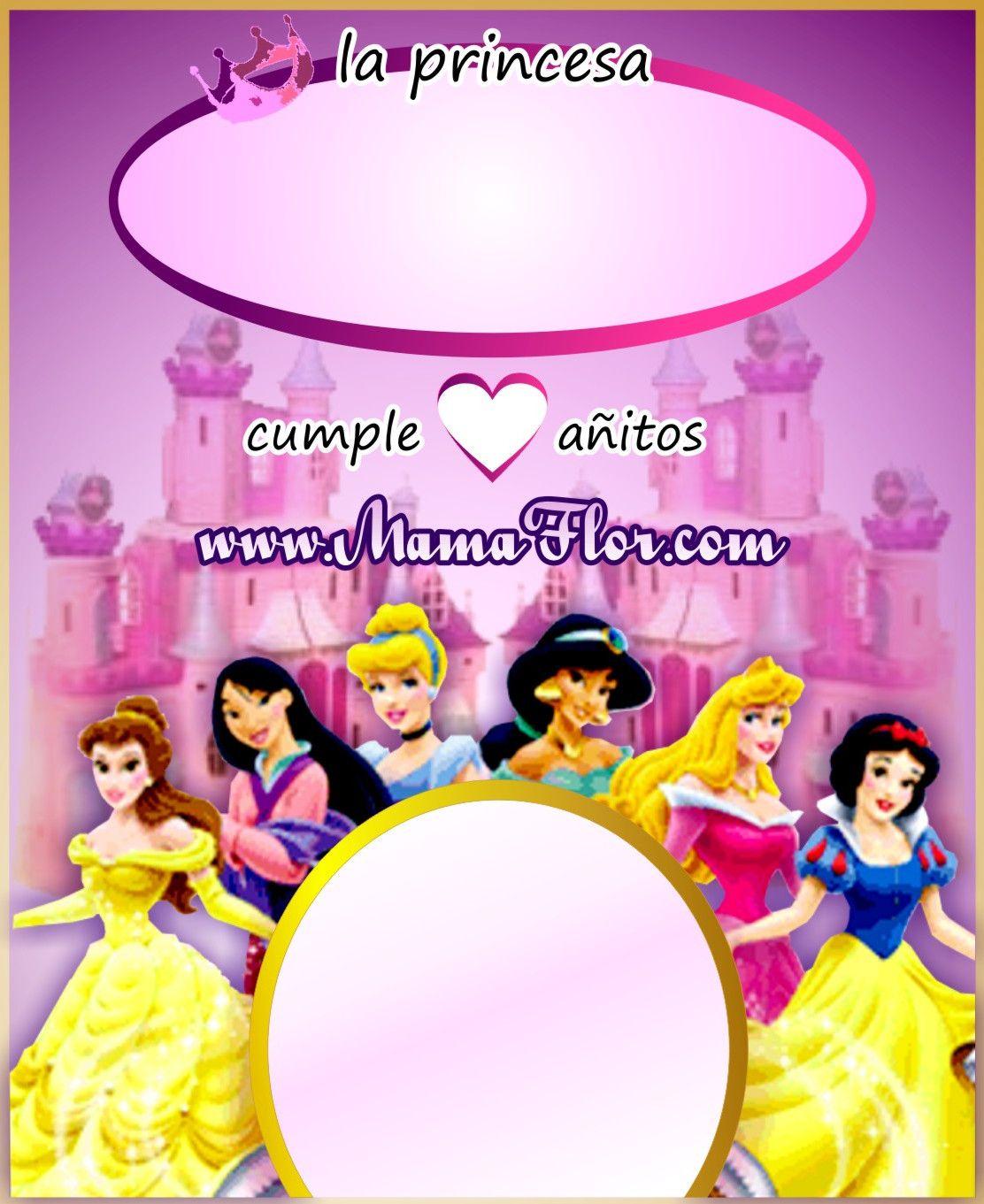 tarjetas de cumplea os de princesas tarj