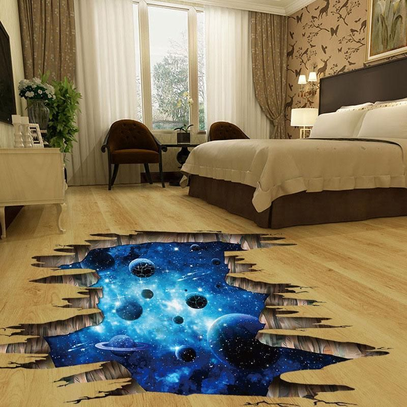 Diy 3d Wallpaper Sticker Wall Stickers Space Wall Stickers Home Kid Room Decor