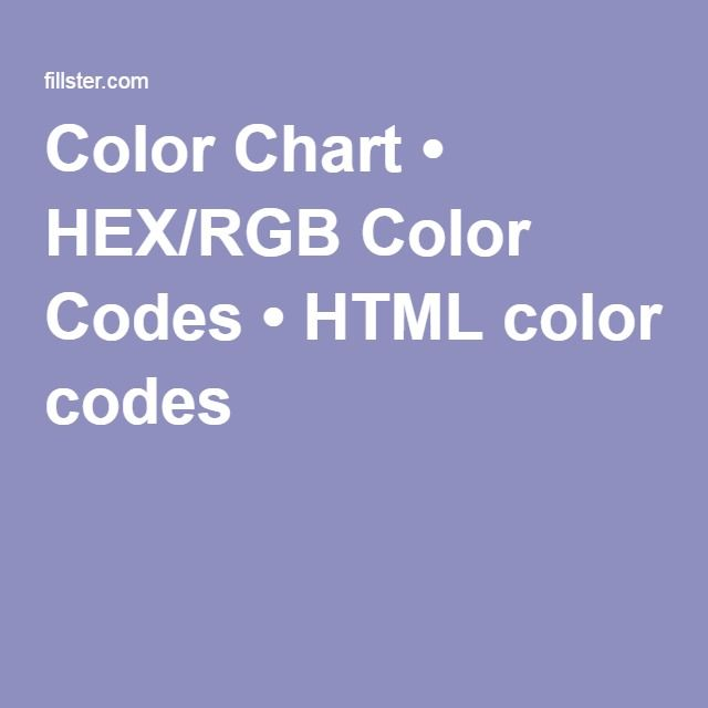 Color Chart Hexrgb Color Codes Html Color Codes Apps Fonts