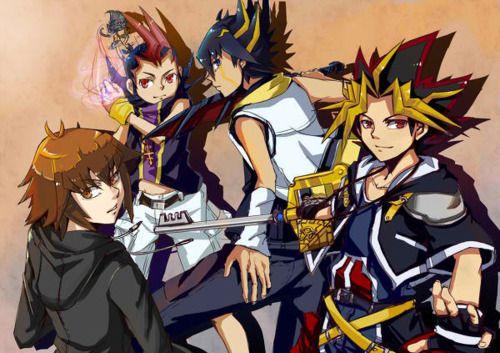 Sora Kingdom Hearts Lineart : Sora yu gi oh ridiculous but well drawn