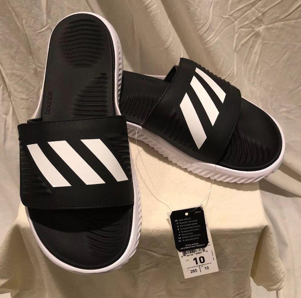 7d64b5d13f199 adidas Performance Mens Alphabounce BB Athletic Slide Sandals White ...