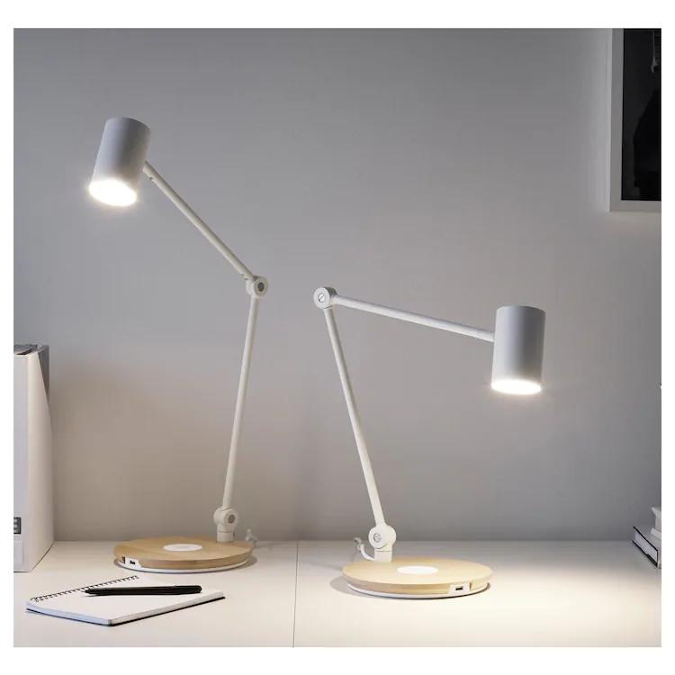 Ikea Riggad White Led Work Lamp W Wireless Charging W 2020
