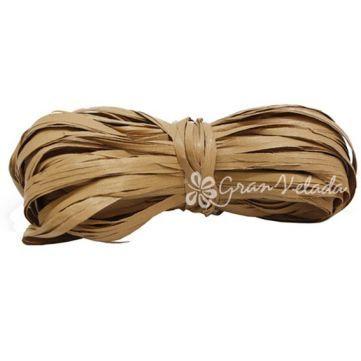 Cinta Rafia Marrón Claro, cinta sintética para envoltorios rústicos, lazos y #manualidades. #diy. En Gran Velada.