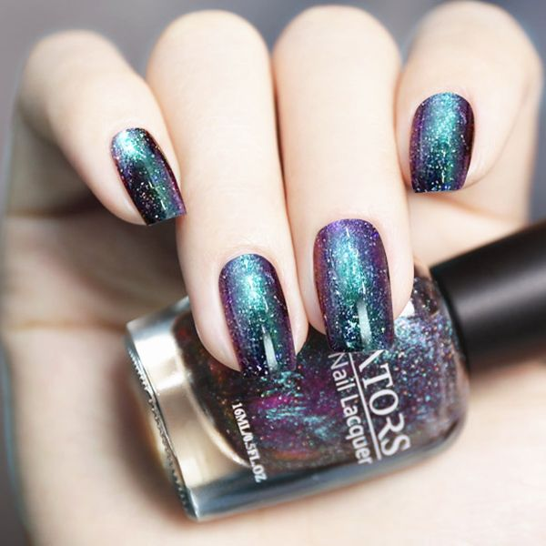 22982 799 1bottle 16ml Holographic Polish Chameleon Nail Art