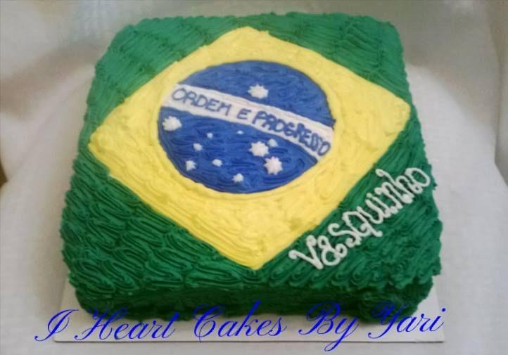 Cool Brazilian Flag Birthday Cake With Images Birthday Party Themes Funny Birthday Cards Online Inifodamsfinfo