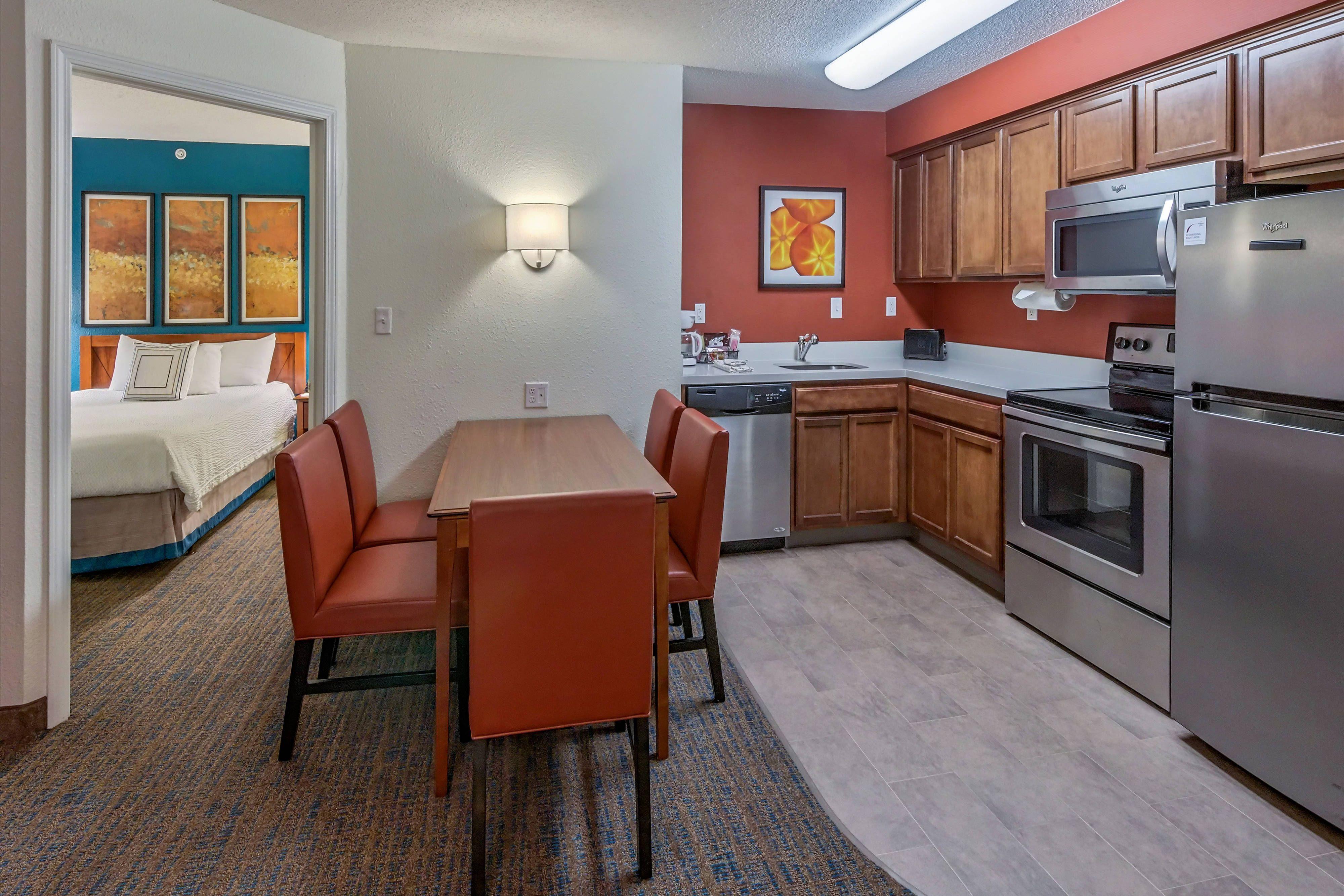 Residence Inn Columbus One Bedroom Suite Kitchen Memorable