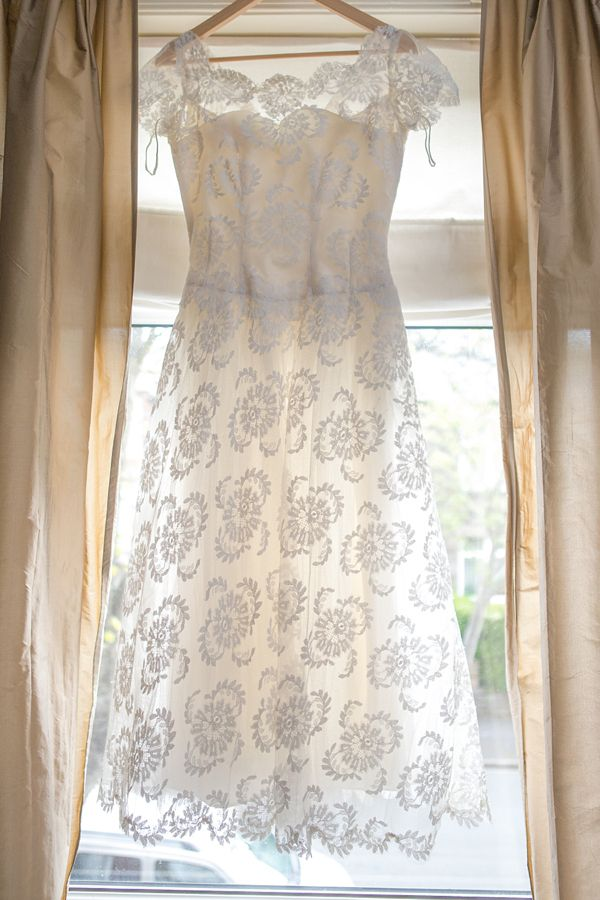 An Original 1950s Dress For A Pretty Pastel Pink and Vintage Inspired Wedding