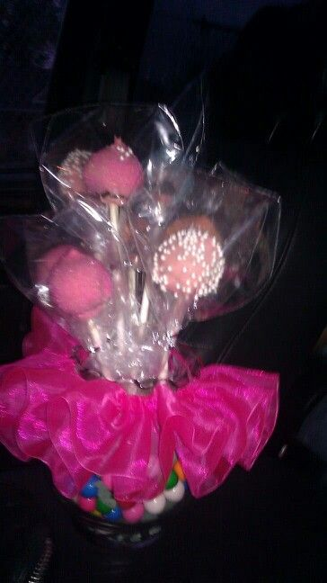 Cake Pops  Made By Me Tutu Vase Filled With Gum Balls mailto:merizapere...
