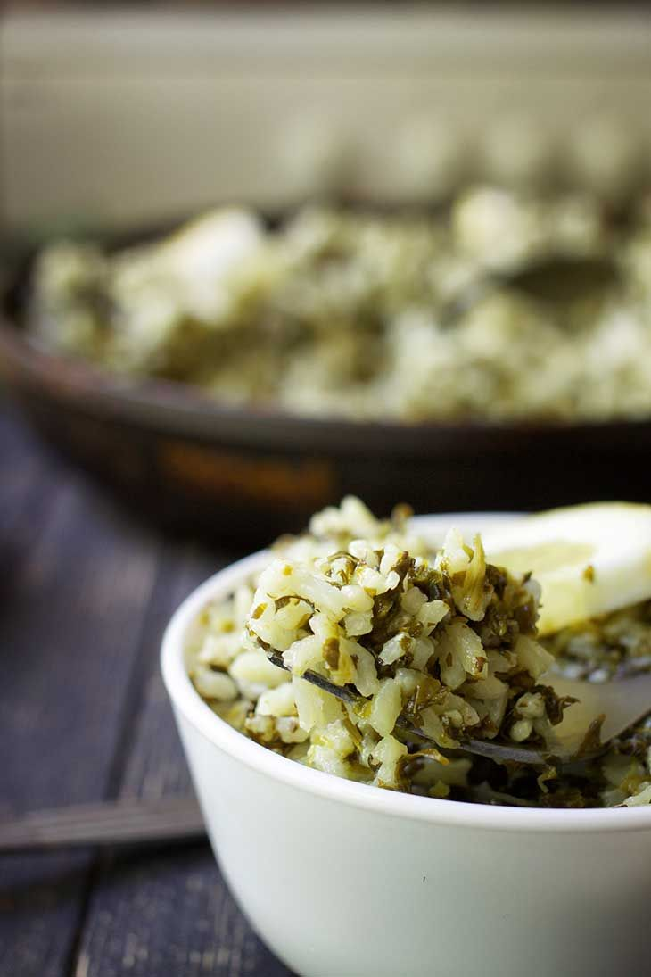Spanakorizo Greek Spinach Rice