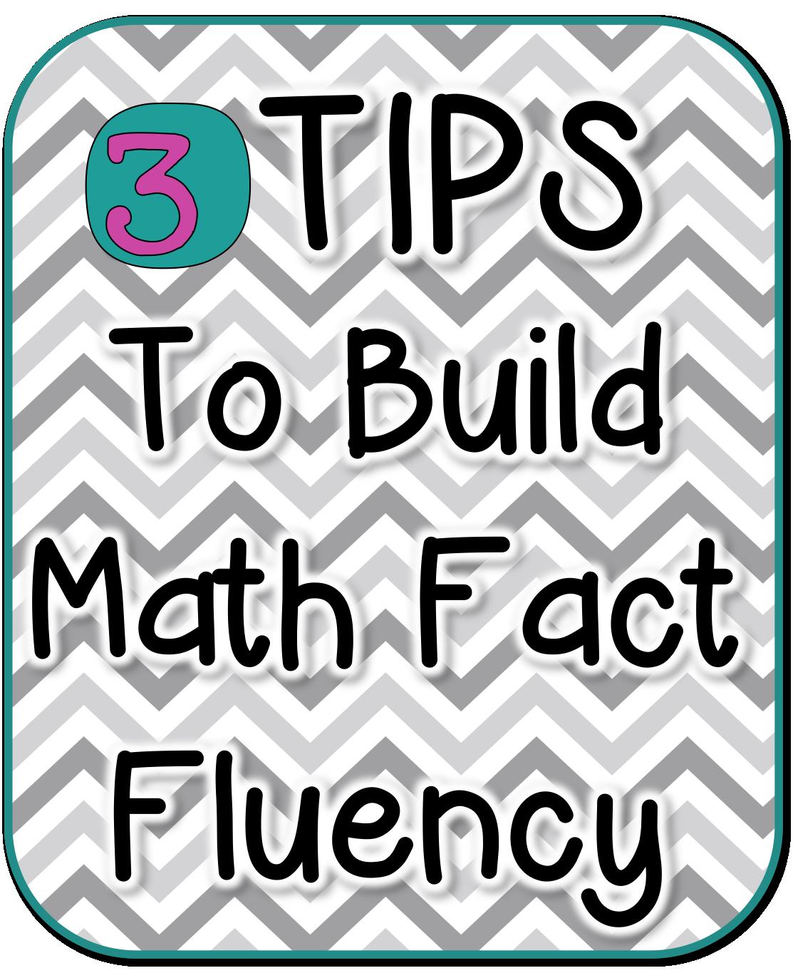 3 Tips to Build Math Fact Fluency | Math fact practice, Build math ...