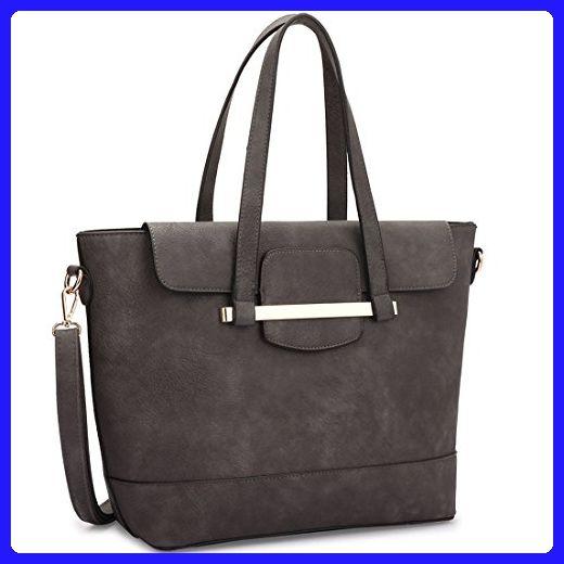 9f73d5472942 Dasein Designer 2 in 1 Faux Leather Handbag Combination of Mini Satchel and  Tote Bag Handbag Shopping Bag - Top handle bags (*Amazon Partner-Link)