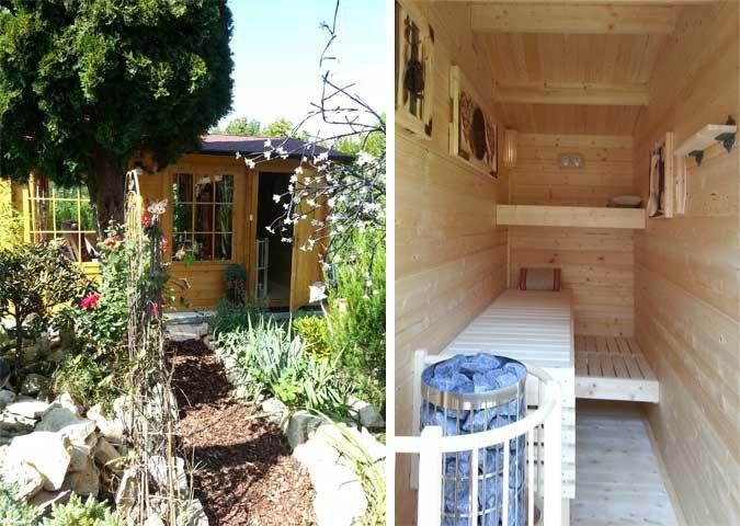 Cool Ein Gartenhaus wird zum Wellnesshaus mit Selbstbau Sauna