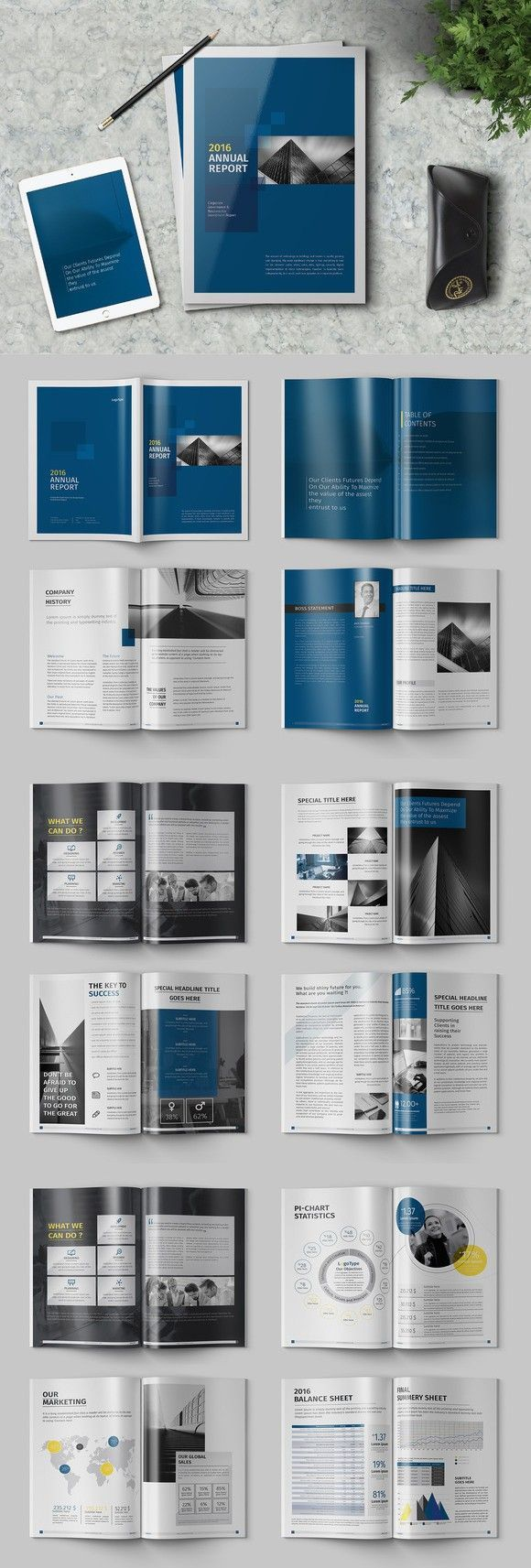 The Blue Annual Report #annualreports The Blue Annual Report #annualreports