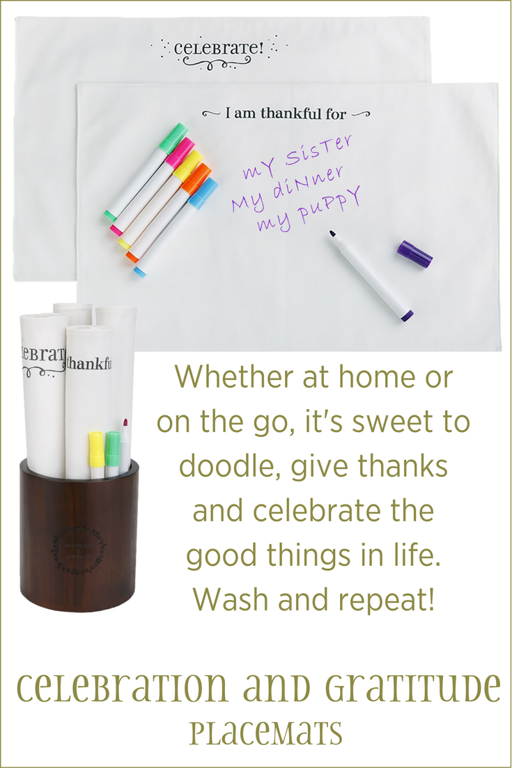 Whether at home or on the go, it's sweet to doodle, give thanks and celebrate the good things in life. Wash and repeat!