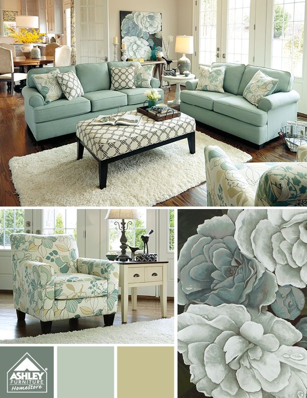 Calming Coastal colors For the Home Pinterest Living room