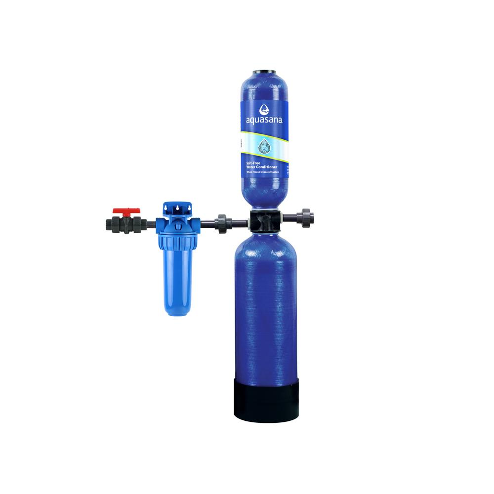 Aquasana 600 000 Gal Whole House Salt Free Water Conditioner With Pre Filter And Install Kit Thd Ast Wh The Home Depot In 2020 Water Softener Whole House Water Filter Water Filtration System