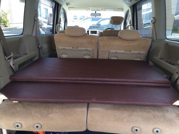 以前、NISSAN、C25セレナで快適に車中泊出来るベッドをDIYした