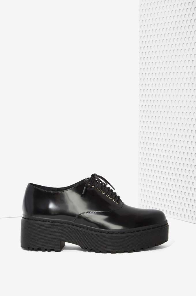 308d9bfa336 Jeffrey Campbell Baird Leather Lug Shoe - Oxfords