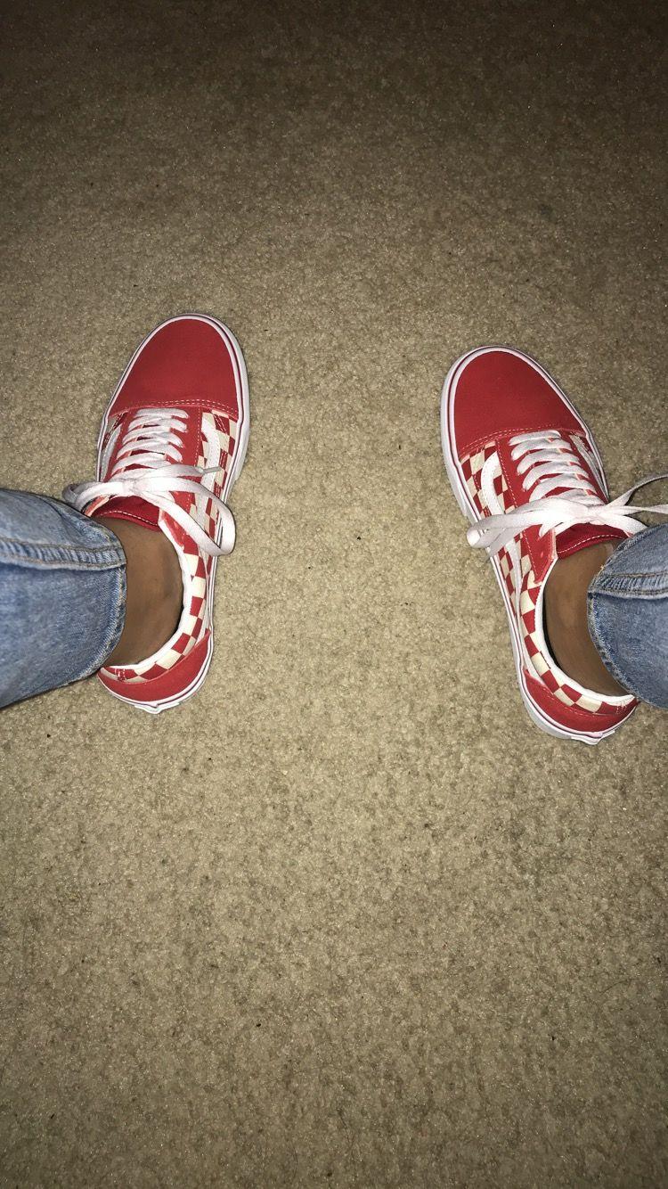 vans authentic red tumblr