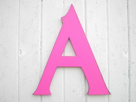 Alphabet Wooden Wall Letters 18 A Nursery Wall by LettersofWood - gift letter