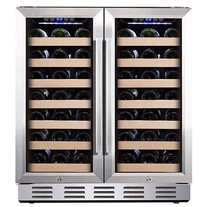 1k 30 Wide 66 Bottles Amazon Com Kalamera 30 Wine Cooler 66 Bottle Dual Zone Built I Built In Wine Cooler Best Wine Coolers Built In Wine Refrigerator
