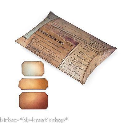 Pillow Box Basteln details zu 1 sizzix bigz l stanzschablone movers shapers boxen