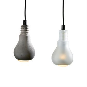 The Edison Lamp From The Swedish Company Tove Adman Has Become A Classic U2013 A  Lamp With A Shade Shaped As A Bulb, Made In Concrete Or Blasted Glass.