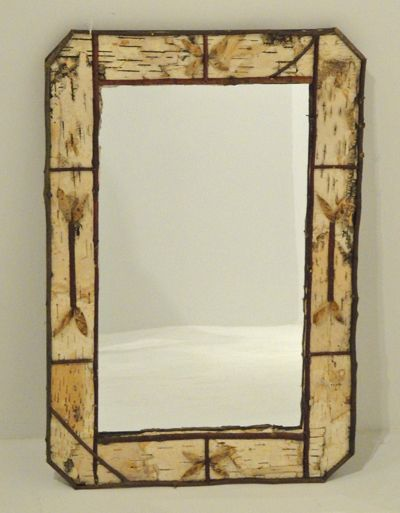 Birch Bark Framed Mirror Design #2 | Decorating | Pinterest | Framed ...