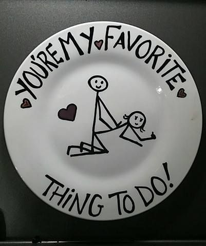 This is a cute, funny hand painted plate for that special someone!! The plate is baked and sprayed with a non toxic sealer so you can use it for about anything. Please take care to only hand wash i...