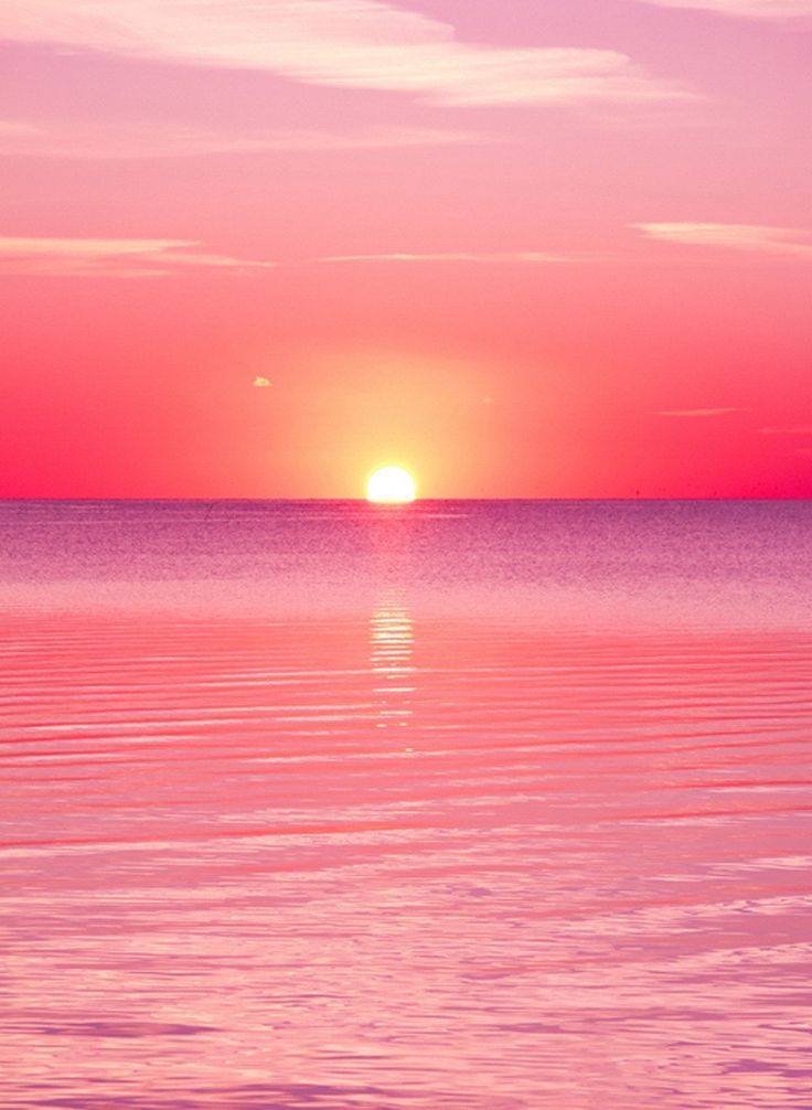 1544 Pink Sunset | Pink sunset, Sunset and Wallpaper