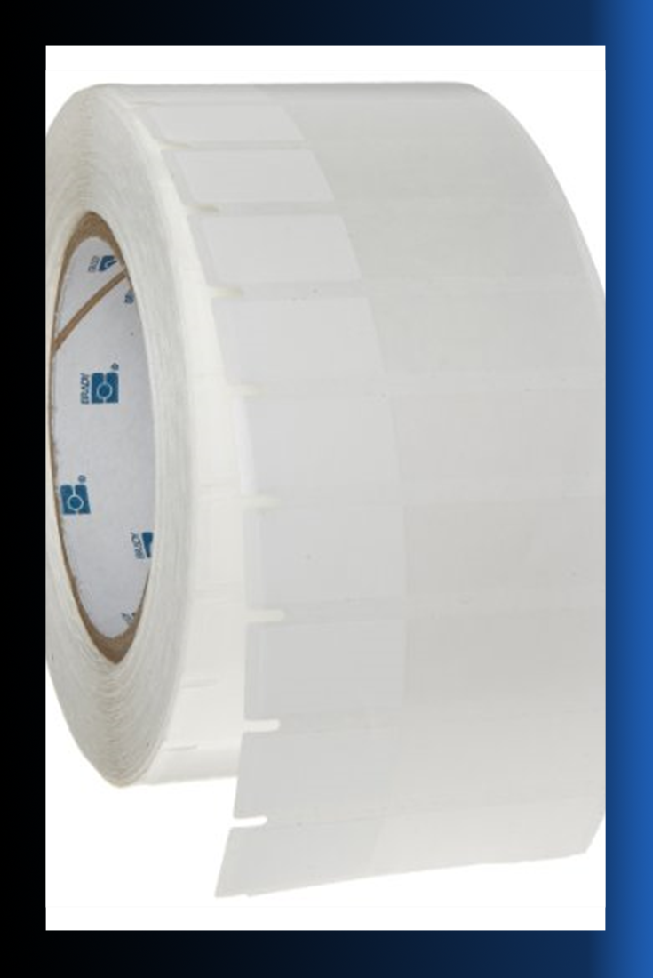 Gloss Finish White Thermal Transfer Printable Label B-422 Permanent Polyester 10000 per Roll Brady THT-5-422-10 1 Width x 0.5 Height