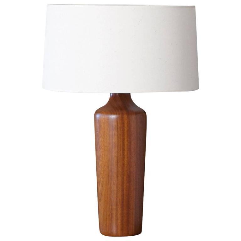 Scandinavian Modern Solid Teak Table Lamp 1960s In 2020 Teak Table Lamp Scandinavian Modern