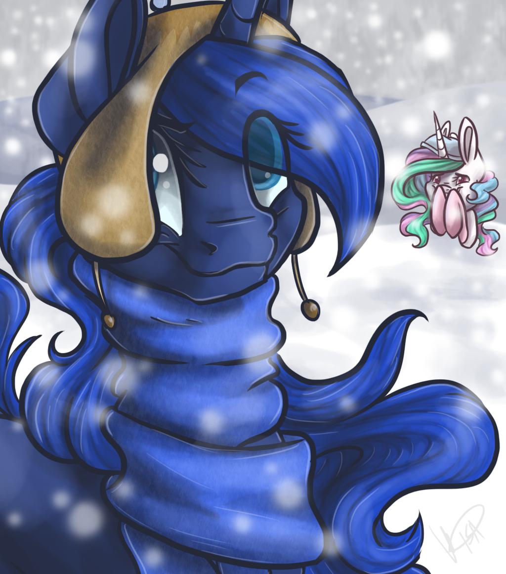 Luna and Her Long Scarf by EbonyTails.deviantart.com on @DeviantArt