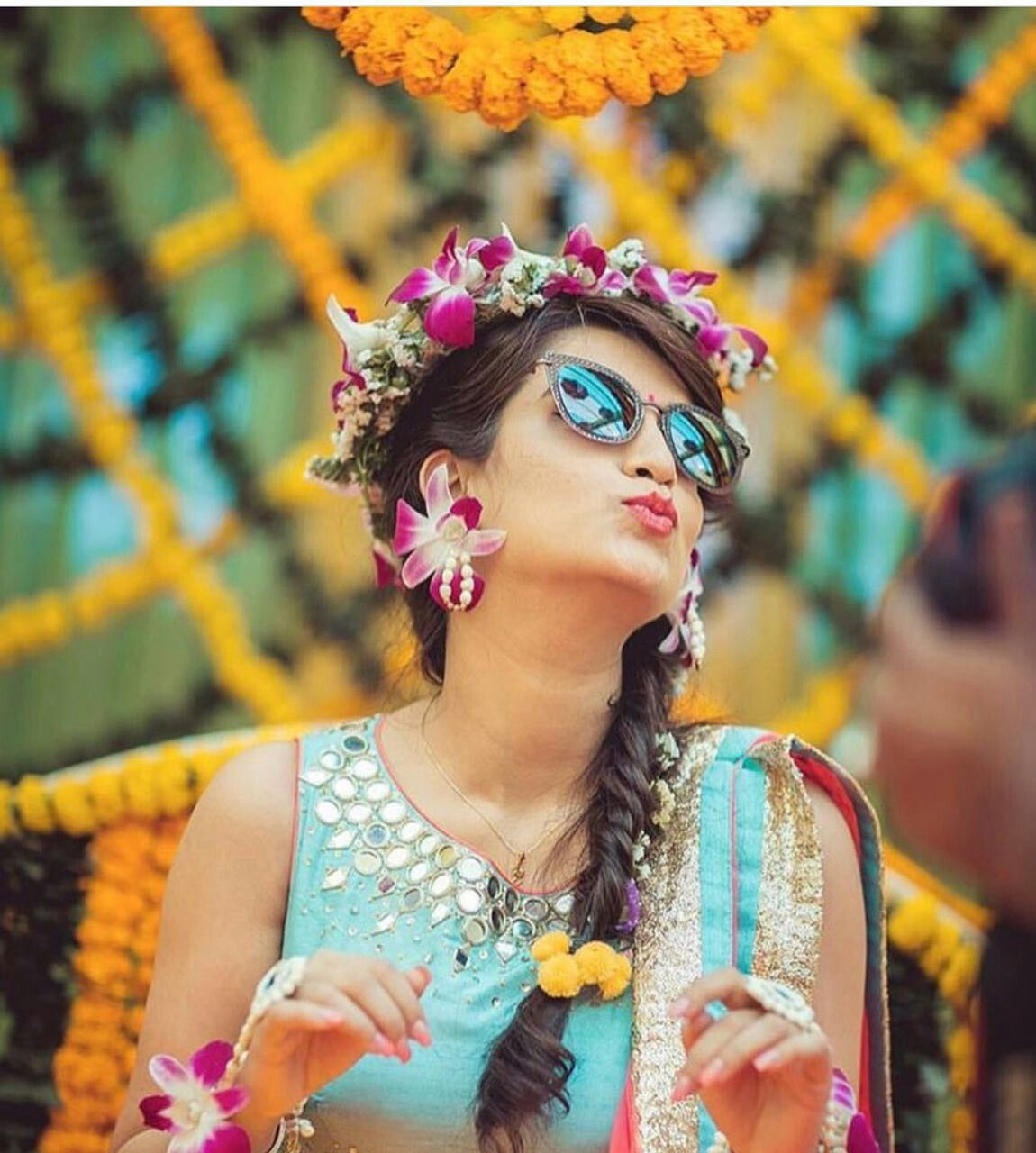 25 Pre Wedding Hairstyles For Mehndi Haldi Or More: For More Follow On Insta @maastani_177 Pinterest