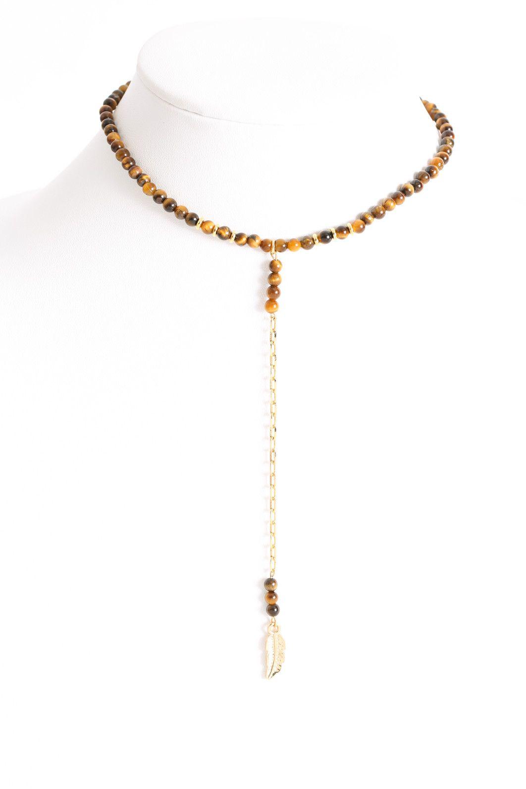 Ettika Drop Chain Beaded Bracelet in Brown dfYk5N1