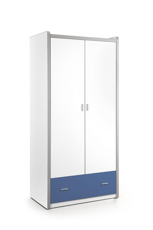 Kinderzimmer Schrank Cherie 2 Turig Weiss Blau Locker Storage