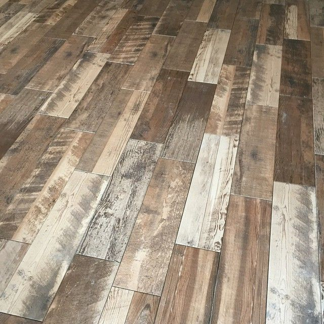 Weathered Gray Wood Look Plank Tile
