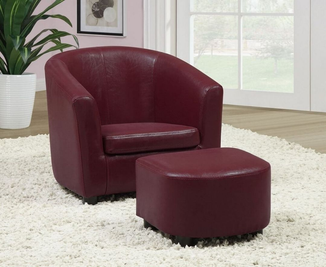 Red Leather Accent Chair Red Leather Chair Chair And Ottoman