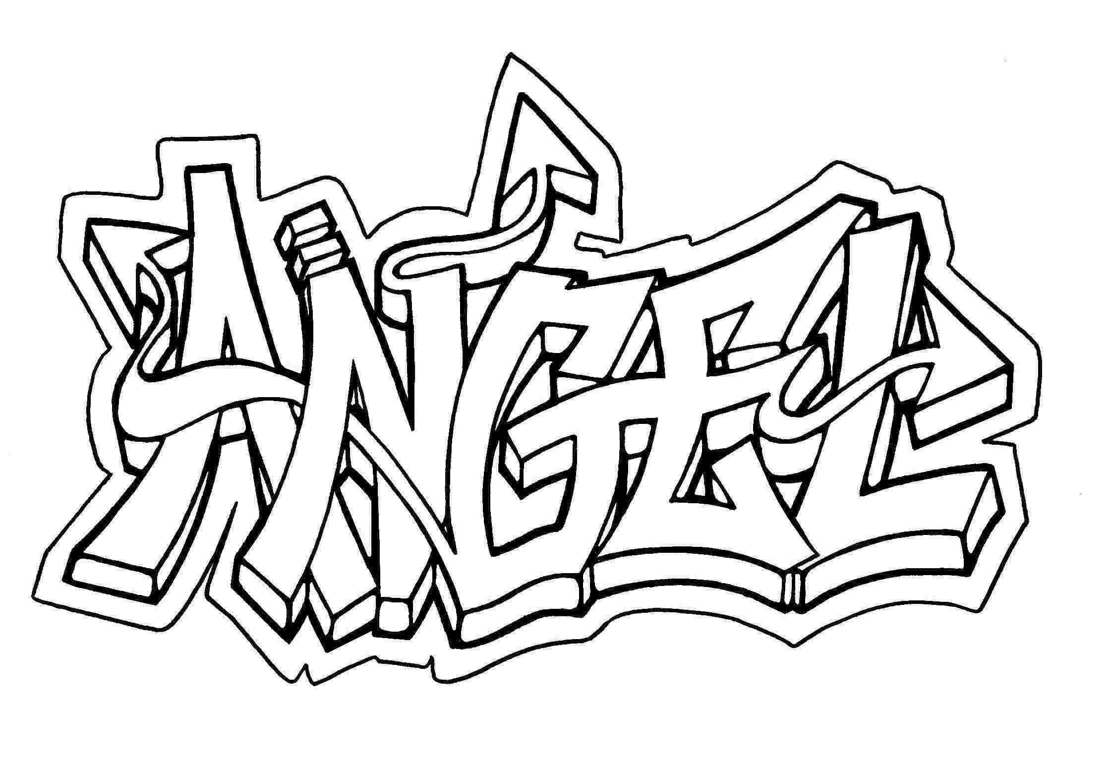 Graffiti Creator Colouring Pages In Capitals Graffiti
