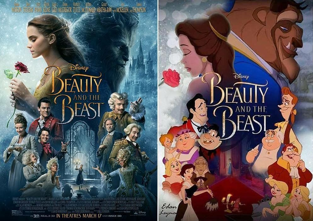 Beauty and the Beast Then (1991) and Now (2017) (With