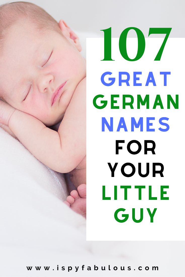 107 Great German Names for your Little Guy!