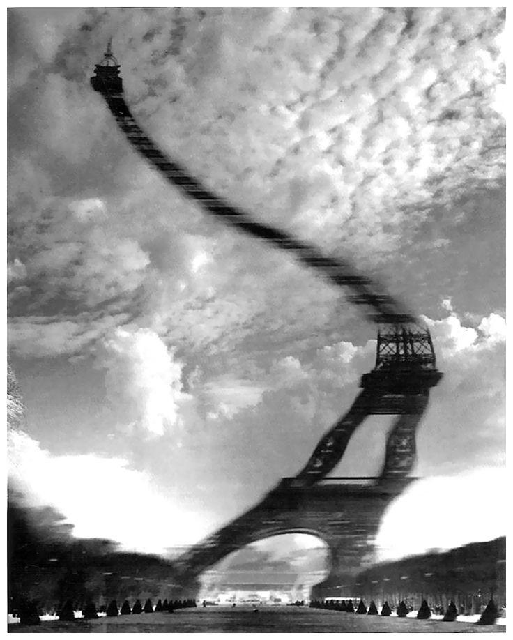 Robert Doisneau - Tour Eiffel Distorsion optique, 1965.