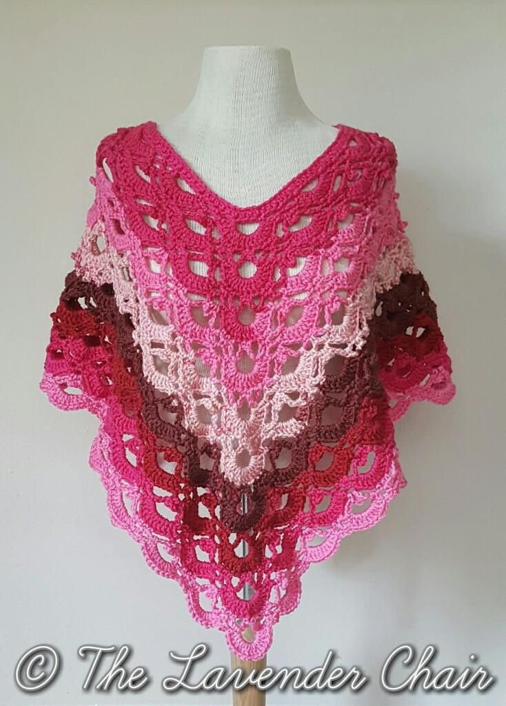 Gemstone Lace Adult Poncho - Free Crochet Pattern - The ...