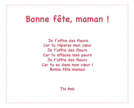 Bonne Fete Maman Un Poeme Pour Maman Avec Tete A Modeler Bon