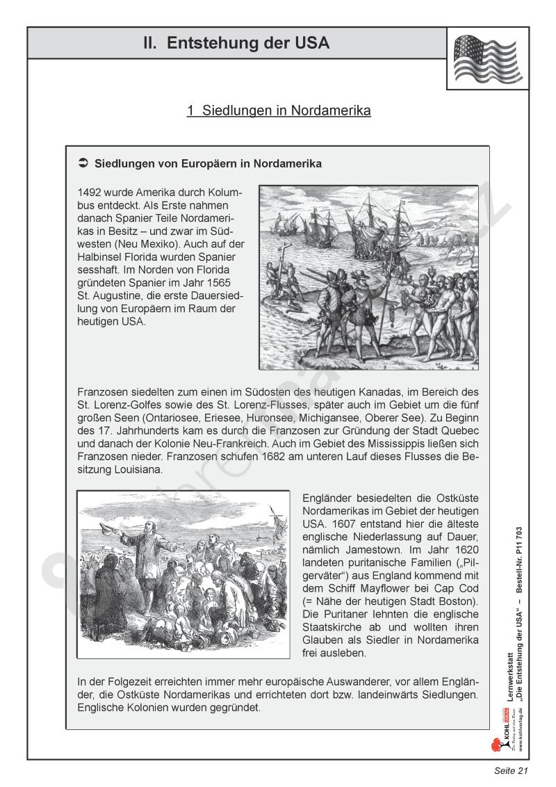 Die Entstehung der USA: Siedlungen, Kolonien und der Weg zur ...