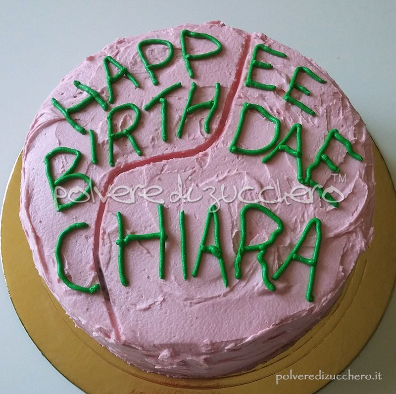 The cake like in the movie Harry Potter Happee Birthdae La torta come nel fil Harry Potter