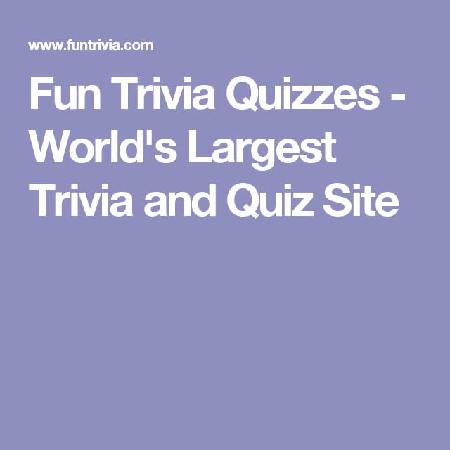 Orlds Largest Trivia Quiz — TheatrePops