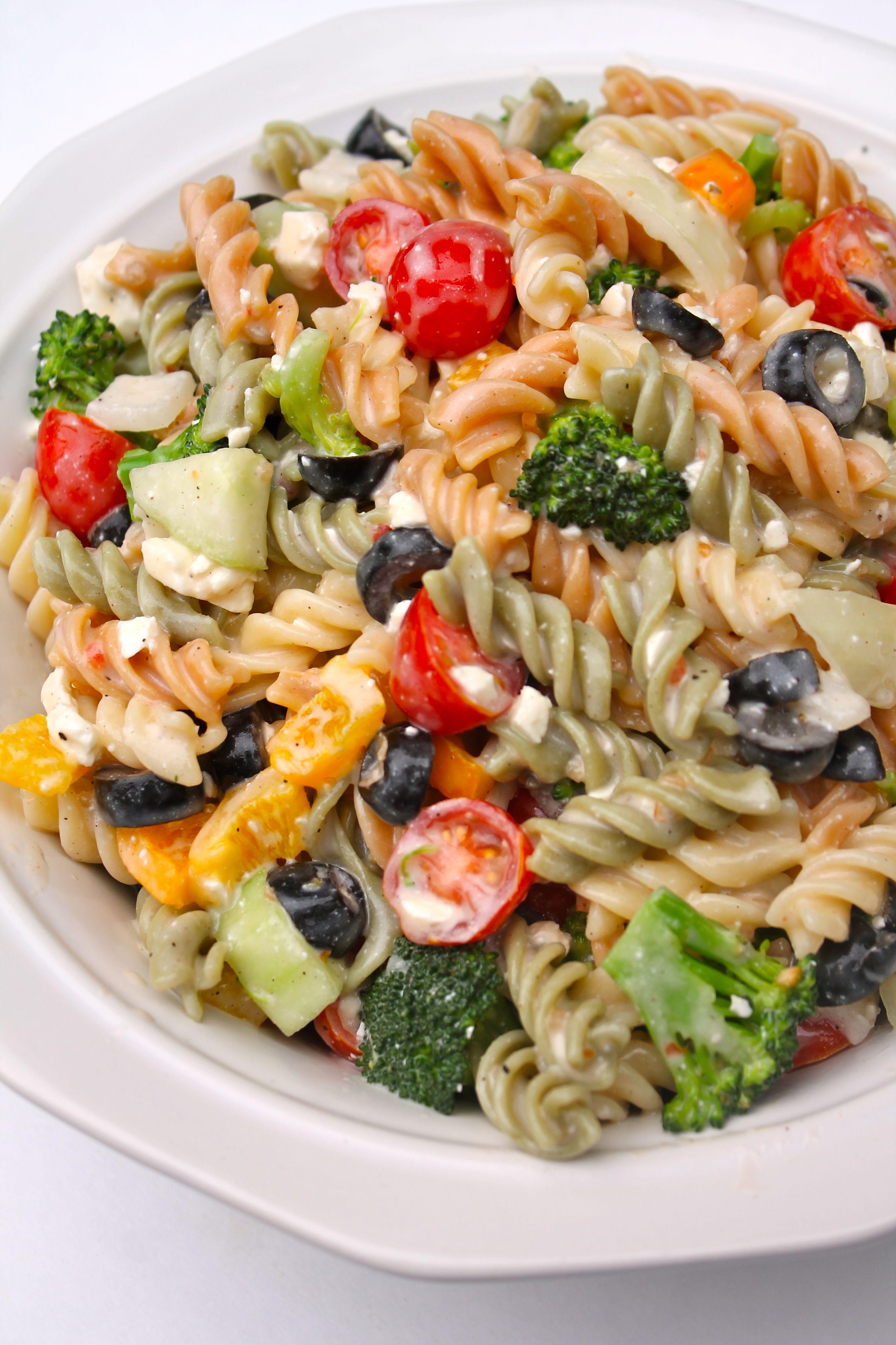 The Best Creamy Italian Pasta Salad