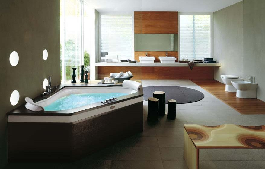 Home Spa Design Ideas | Hot Tubs & Jacuzzis | Pinterest